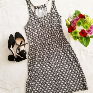 Old Navy Black and White Dress Size Large Stretch